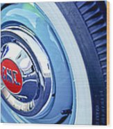 1955 Gmc Suburban Carrier Pickup Truck Wheel Emblem Wood Print