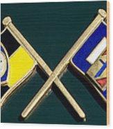 1955 Lancia Emblem Wood Print