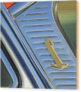 1955 Lincoln Capri Emblem Wood Print