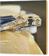 1955 Pontiac Star Chief Hood Ornament Wood Print