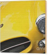 1956 Buckle Gt Coupe - Badge Grill Headlight Wood Print