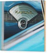 1956 Chevrolet Belair Nomad Dashboard Clock Wood Print