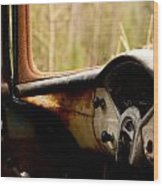 1956 Chevy Inside Wood Print