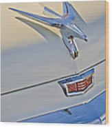 1956 Chrysler Windsor Town And Country  Hood Ornament Wood Print