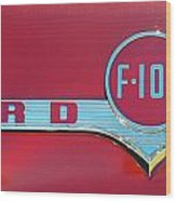 1956 Ford F100 Wood Print