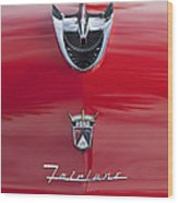 1956 Ford Fairlane Hood Ornament 7 Wood Print