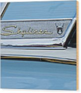 1956 Ford Fairlane Skyliner Emblem Wood Print