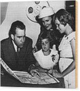 1956 Us Presidency, Nixon Family.  From Wood Print