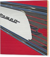 1957 Chevrolet Cameo Pickup Emblem Wood Print