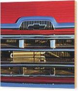 1957 Chevrolet Pickup Truck Grille Emblem Wood Print