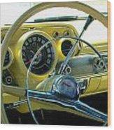 1957 Chevy Bel Air Dash Wood Print