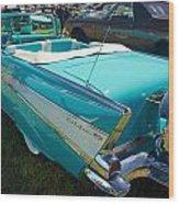 1957 Chevy Convertable Wood Print