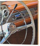 1957 Chevy Dash Wood Print