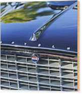 1957 Chrysler 300c Grille Emblem Wood Print