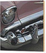 1957 Coral Chevy Bel Air Wood Print