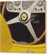 1957 Ferrari 500 Trc Scaglietti Spyder Steering Wheel Wood Print