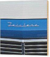 1957 Ford Fairlane Grille Emblem Wood Print
