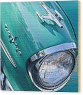 1957 Oldsmobile 98 Starfire Convertible Fender Spear Wood Print