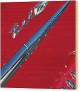 1958 Chevrolet Belair Emblem Wood Print