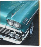 1958 Chevy Belair Front End 01 Wood Print