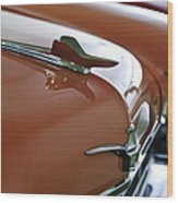1958 Chrysler Imperial Hood Ornament Wood Print