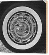 1958 Corvette White Walls Wood Print