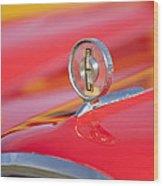 1958 Edsel Roundup Hood Ornament Wood Print