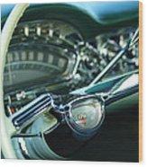 1958 Oldsmobile 98 Steering Wheel Wood Print