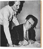 1958 Us Presidency.  Second Lady Wood Print by Everett