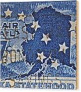 1959 Alaska Statehood Stamp Wood Print