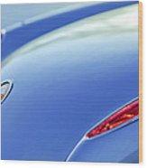 1959 Chevrolet Corvette Taillight Emblem Wood Print