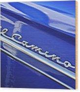 1959 Chevrolet El Camino Emblem Wood Print