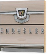 1959 Chrysler New Yorker Emblem Wood Print