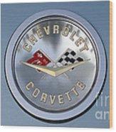 1959 Corvette Emblem Wood Print