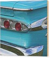 1959 Edsel Corvair Taillights Wood Print