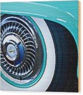 1959 Ford Ranchero Wheel Emblem Wood Print