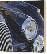 1959 Jaguar S Roadster Headlights Wood Print