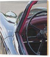 1959 Jaguar S Roadster Steering Wheel 2 Wood Print