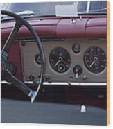 1959 Jaguar S Roadster Steering Wheel Wood Print
