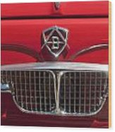1960 Autobianchi Bianchina Transformabile Coupe Hood Emblem Wood Print