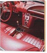 1960 Chevrolet Corvette Interior Wood Print