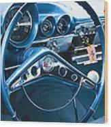 1960 Chevrolet Impala Steering Wheel Wood Print