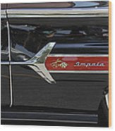 1960 Chevy Impala Wood Print by Mike McGlothlen