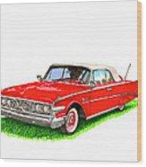 1960 Edsel Ranger Convertible Wood Print