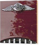 1960 Morgan Plus Four Drophead Coupe Hood Emblem Wood Print