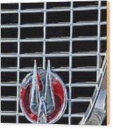 1960 Studebaker Hawk Coupe Emblem Wood Print
