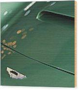 1961 Aston Martin Db4 Series Iv Hood Emblem Wood Print