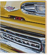 1961 Chevrolet Front End Wood Print