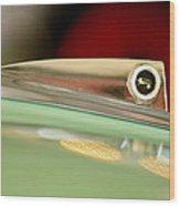 1961 Ford Galaxie Convertible Hood Ornament Wood Print