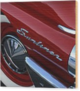 1961 Ford Galaxie Sunliner Convertible Wood Print